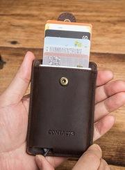 Кожаный бокс для карт Contacts - кардхолдер/Подарок/Оригинал/RFID
